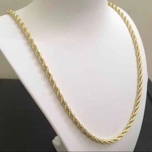 """Real 10K Solid Gold Heavy Rope Chain 4MM 22"""""""